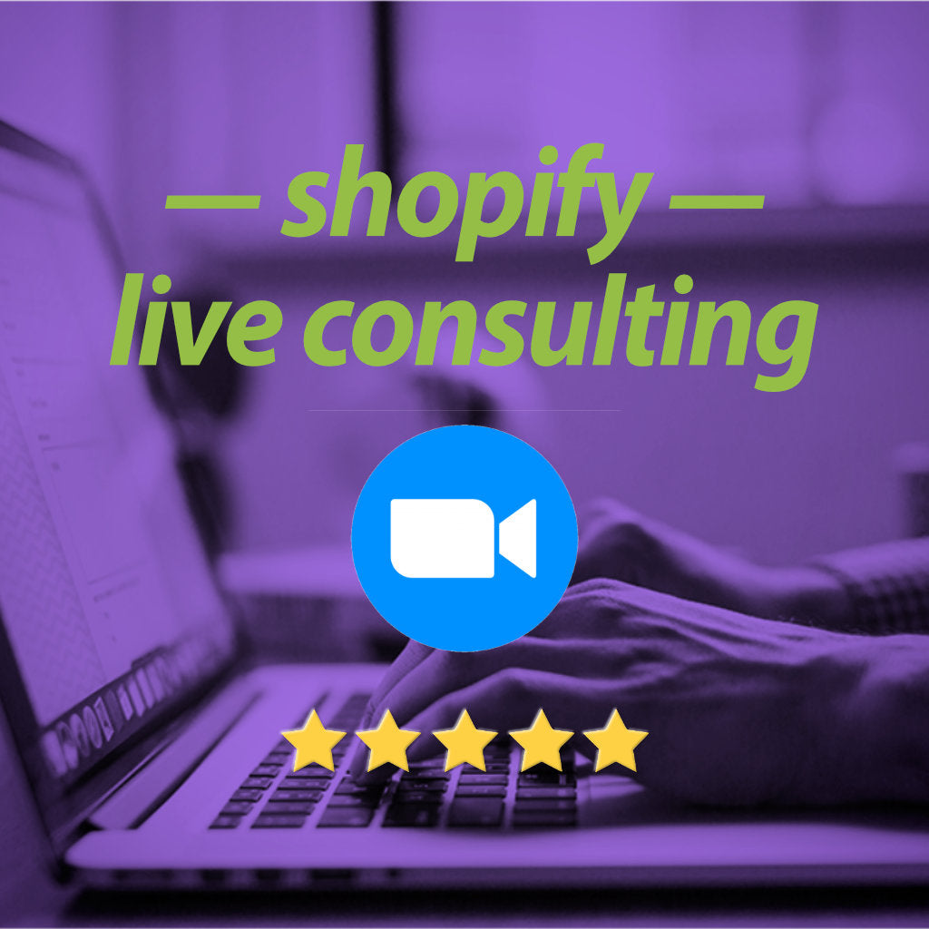 LIVE Shopify consulting service