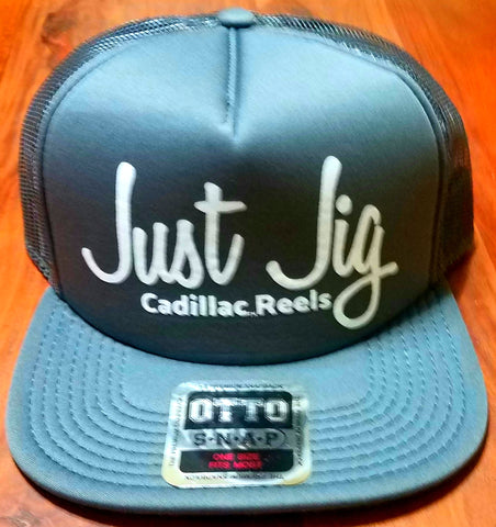 GUNMETAL JUST JIG TRUCKER HATS - cadillaccastingcompany.com