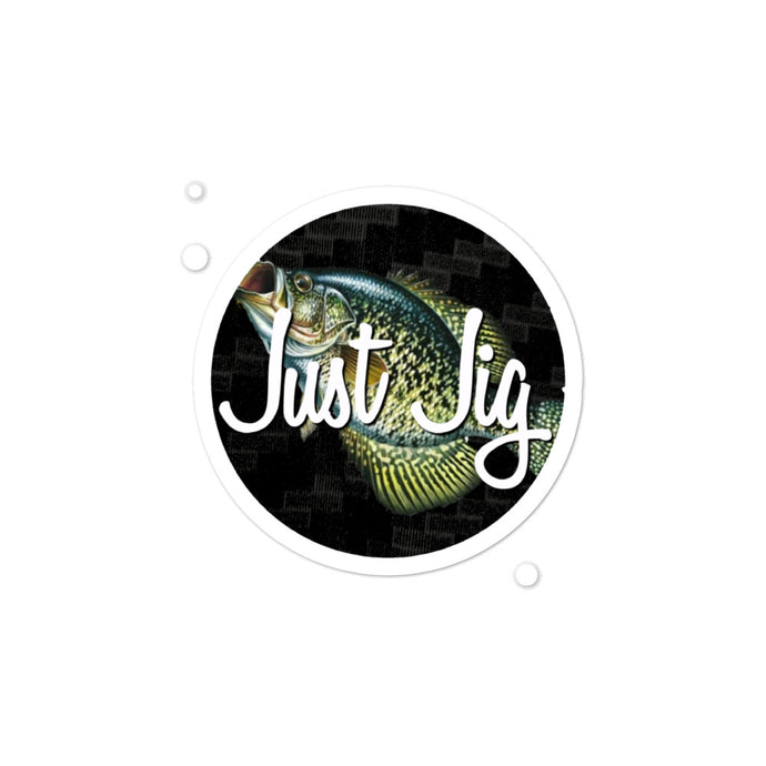 JUST JIG CRAPPIE DECAL - cadillaccastingcompany.com