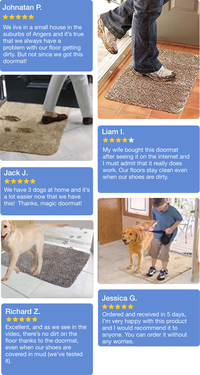The magic ultra-absorbent doormat: you won't leave any dirty ...