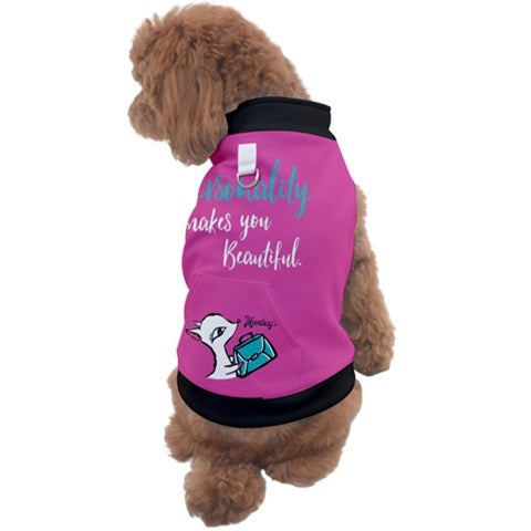 DOG SWEATER/ Smile makes you beauty (pink)
