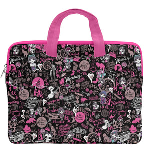 Hong Kong Pattern Black MacBook Pro Double Pocket Laptop Bag