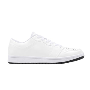 DIY Low-Top Leather Sneakers - White