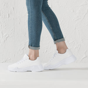 DIY Chunky Sneakers - White