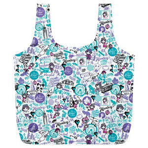 Hong Kong Pattern Full Print Recycle Bag (XL)-Blue