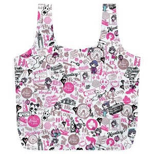 Hong Kong Pattern Full Print Recycle Bag (XL)- Pink