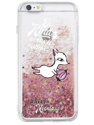 Glittering Phone Case - Moonkii with Dream Balloon 閃粉流星手機殼 - 夢奇夢汽球