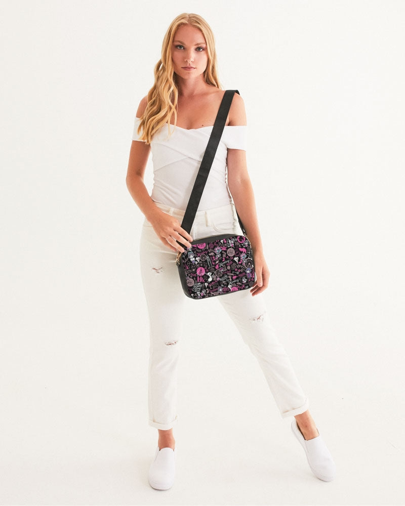 Hong Kong Pattern Crossbody Bag