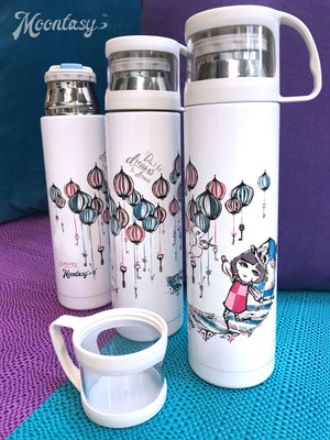 Thermal Bottle with Cup - Don't Let Dreams Be Dreams 保溫瓶(連小杯) - 夢想不只想