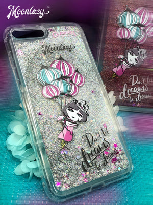 Glittering Phone Case - Don't Let Dreams Be Dreams 閃粉流星手機殼 - 夢想不只想