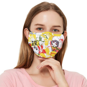 Heroflower White Fitted Cloth Face Mask (Adult)