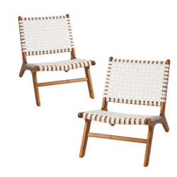 Delhi Chairs: Set of 2 - White