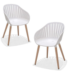 Set of 2: Nassau Dining Chairs - white