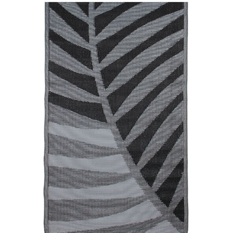 outdoor rug: grey palm