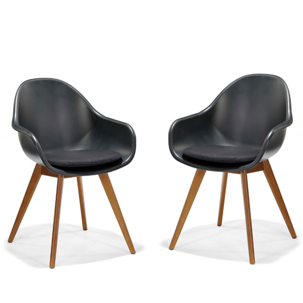 Set of 2: Montreux chairs - black