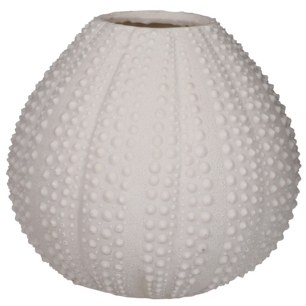 Sea Urchin Vase - White