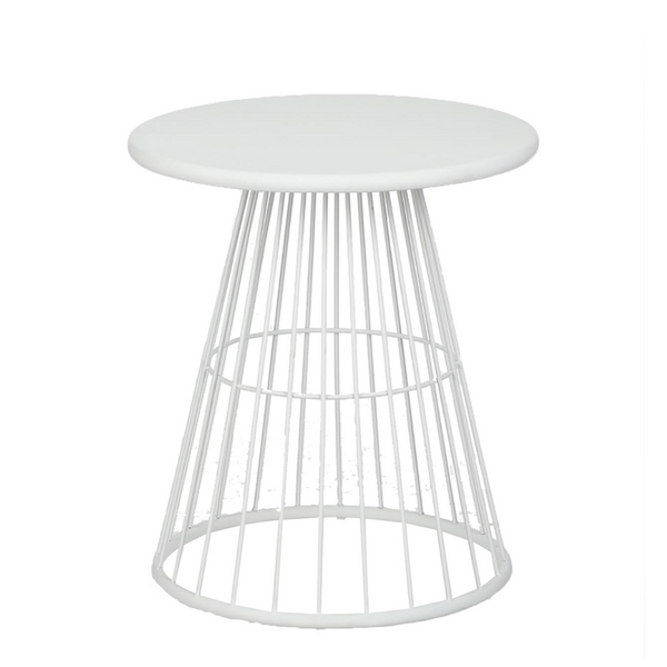 Side Table - Tirana White