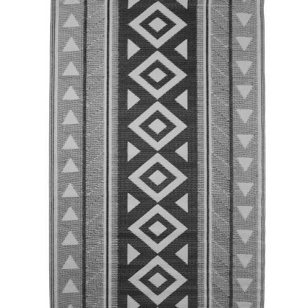 outdoor rug: Aztec Black