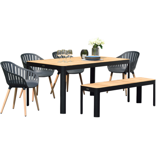 Portals Dining Set - Dark