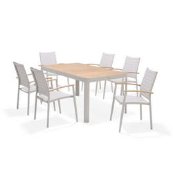 Portals 7pc Stacking Dining Set - Light | PREORDER