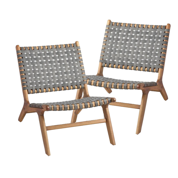 Delhi Chairs: Set of 2 - Charcoal