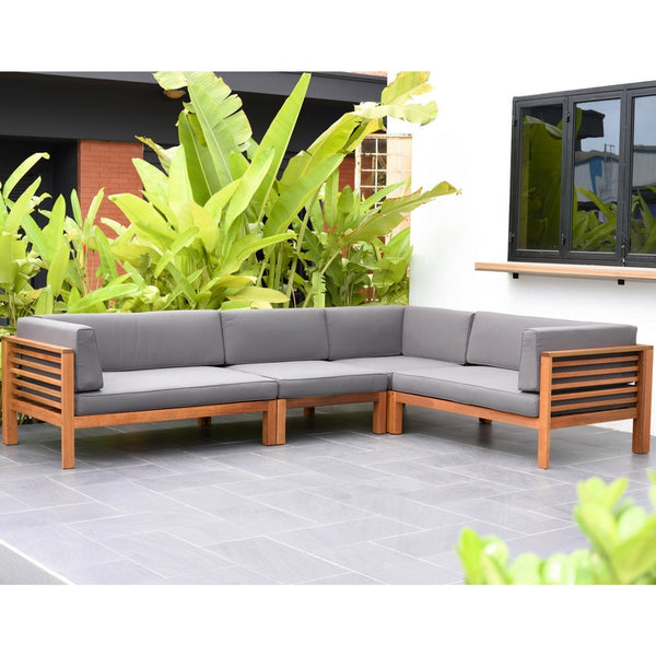 L Shaped Modular Outdoor Lounge Set Mon Exteriors South Africa