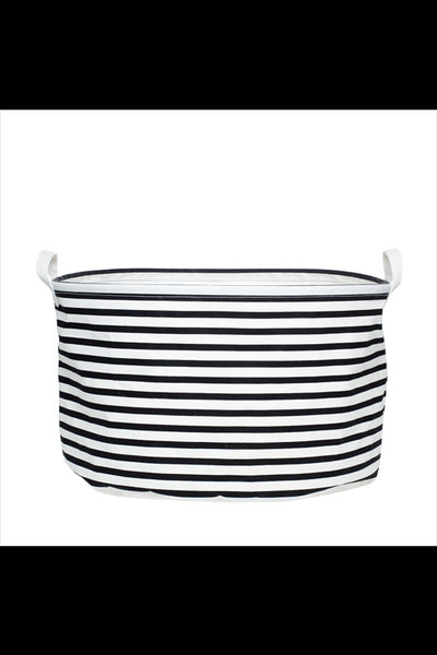 CANVAS BASKET - BLACK & WHITE STRIPE