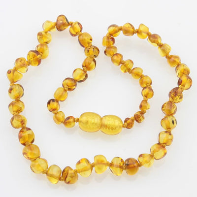 AMBER HONEY BABY TEETHING NECKLACE
