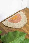 SONNY ROUND DOORMAT - GOLD/PEACH