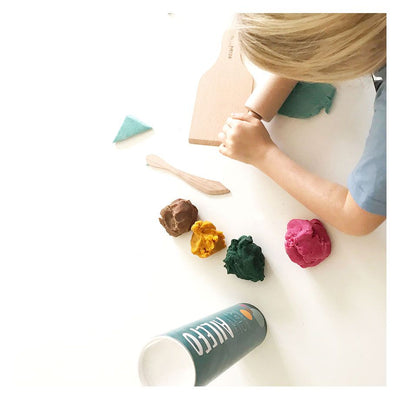 ECO WOOD MODELING CLAY TOOLS IN COTTON BAG