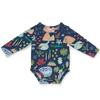 BEACH FOREST GIFT PACK. LONG SLEEVE BODYSUIT & BABY HAT