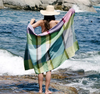 BLUE CRAB FOLLY WEAVE BEACH TOWEL