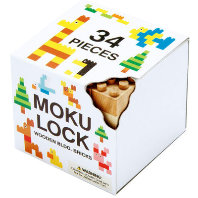MOKULOCK- KODOMO WOODEN BLOCKS 34 PCS