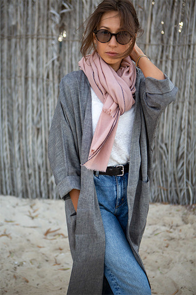 CASHMERE 80x80 SCARVES - ROSE