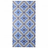 BONNIE & NEIL DECO FLOWER TILE BLUE VINYL RUGS
