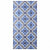 DECO FLOWER TILE BLUE VINYL RUGS