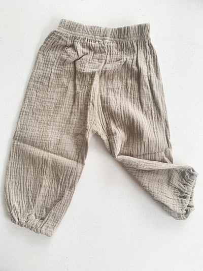 KIDS PLAY PANTS PEBBLE GREY 12-18 M