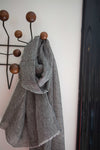 SCARVES-LINEN MARINE GREY