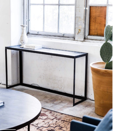 NEW YORK CONSOLE TABLE - METAL & MARBLE