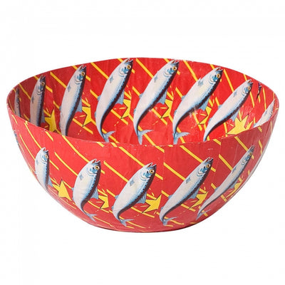 PAPER MACHE RED LUCKY STAR BOWL