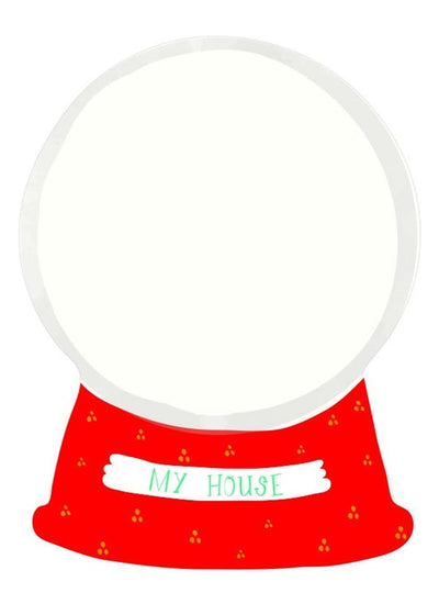 NEW!MAKE IT YOURSELF NOTECARDS - My Home in a Snow Globe
