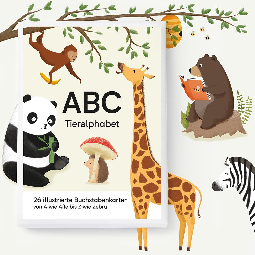 ABC-KARTENSET TIERALPHAPET - Sausebrause Shop