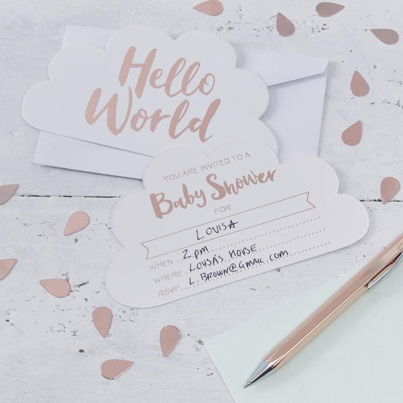 "EINLADUNGSKARTE ""HELLO WORLD"" // SALE - Sausebrause Shop"