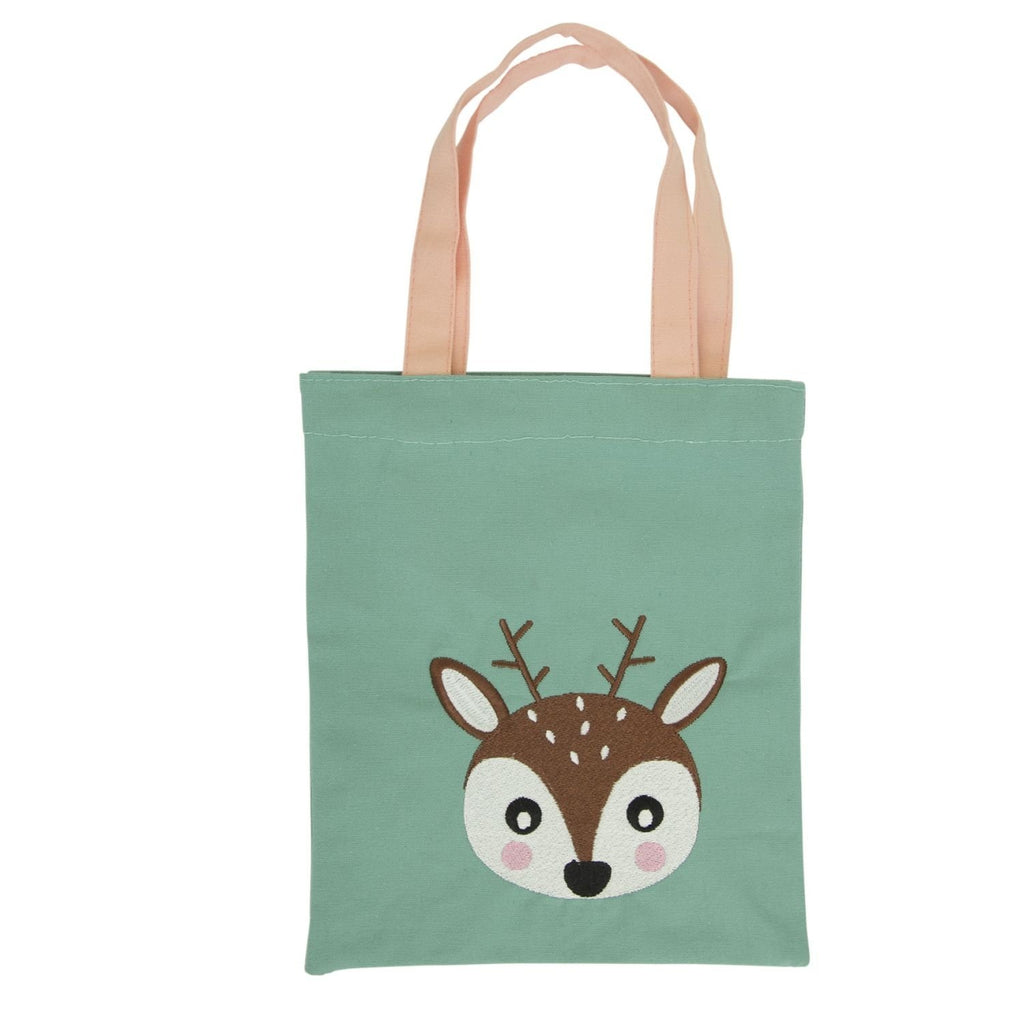 GLOBAL AFFAIRS STOFFTASCHE WOODLAND TIERE REH - Sausebrause Shop