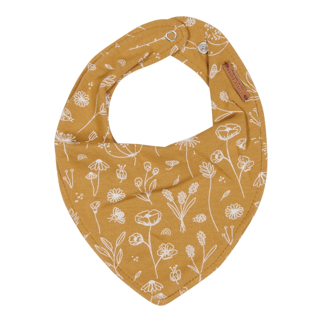 LITTLE DUTCH BANDANA LÄTZCHEN WILD FLOWERS OCHRE - Sausebrause Shop