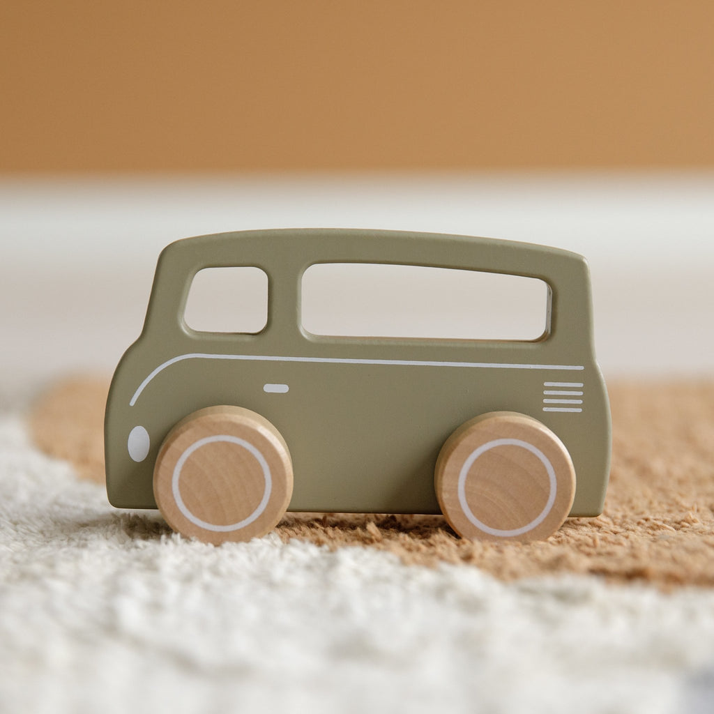 LITTLE DUTCH HOLZ BUS OLIV - Sausebrause Shop