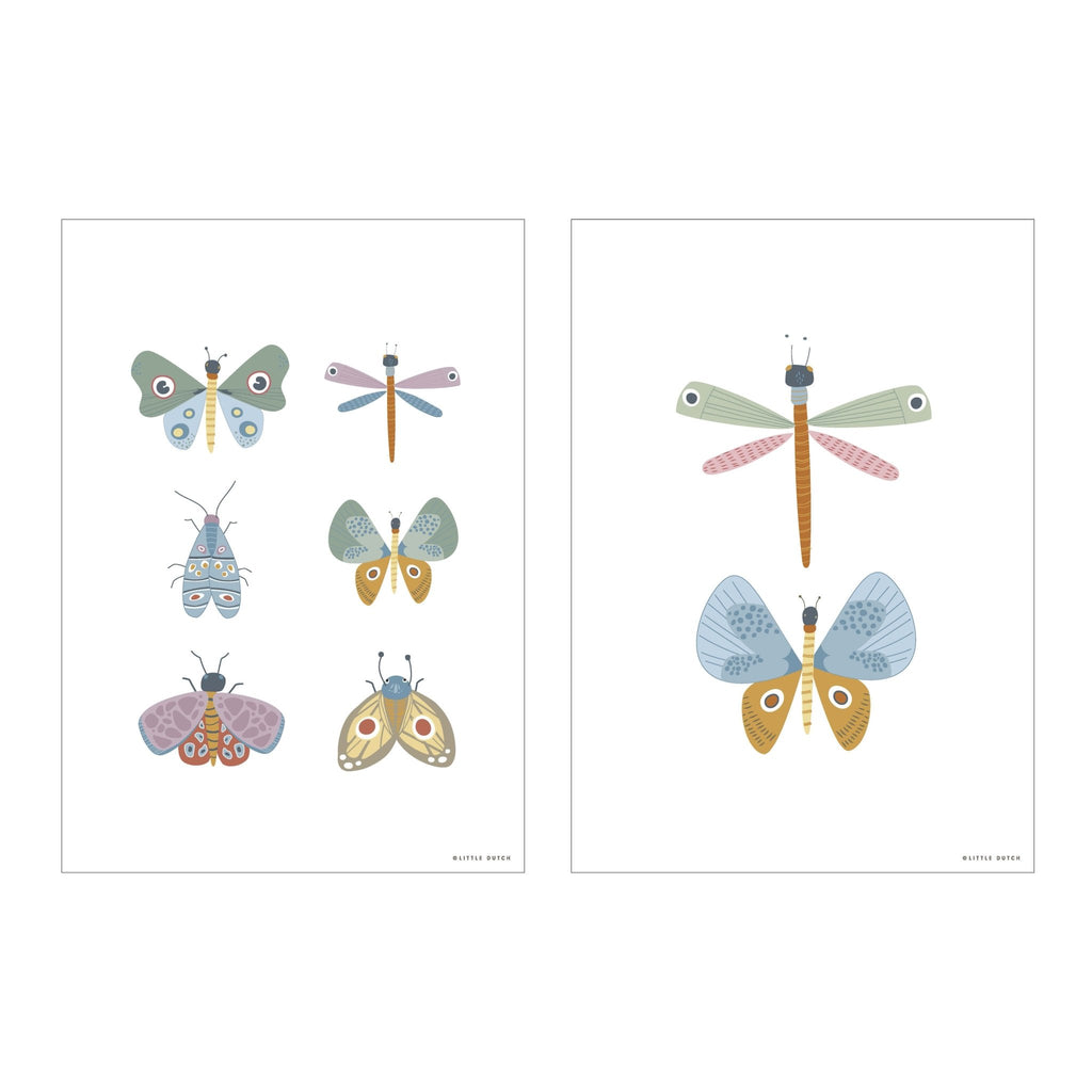 LITTLE DUTCH POSTER BUTTERFLY - Sausebrause Shop