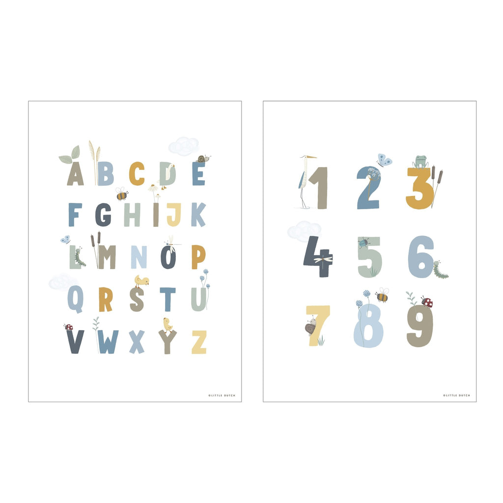 LITTLE DUTCH POSTER LITTLE GOOSE ABC // BLAU - Sausebrause Shop