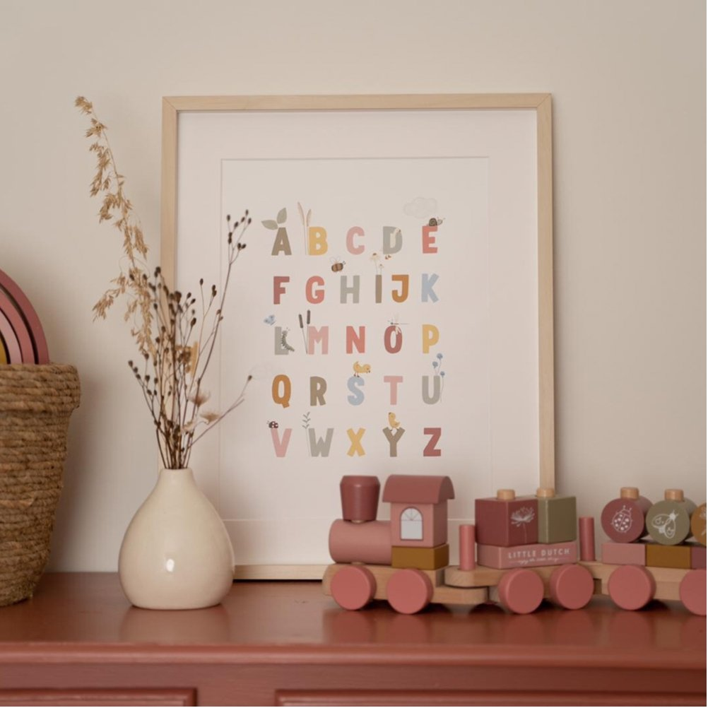 LITTLE DUTCH POSTER LITTLE GOOSE ABC // PINK - Sausebrause Shop