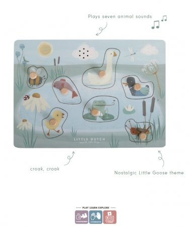 LITTLE DUTCH SOUND GREIF PUZZLE LITTLE GOOSE - Sausebrause Shop